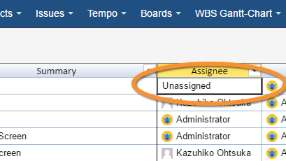 Assignee in Excel like Issue Editor for JIRA